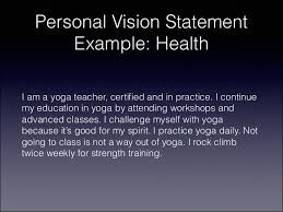 Image Result For Mission Statement Example Healthcare Vision Yoga Personal