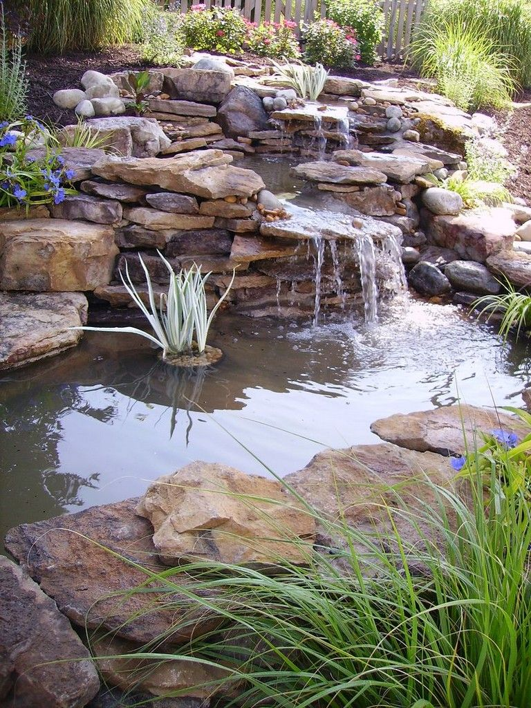 77 Awesome Small Waterfall Pond Landscaping Ideas Waterfalls