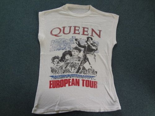 653f40feb94f7 Queen T Shirt Vintage RARE Rock Band World European Tour Concert Classic  White