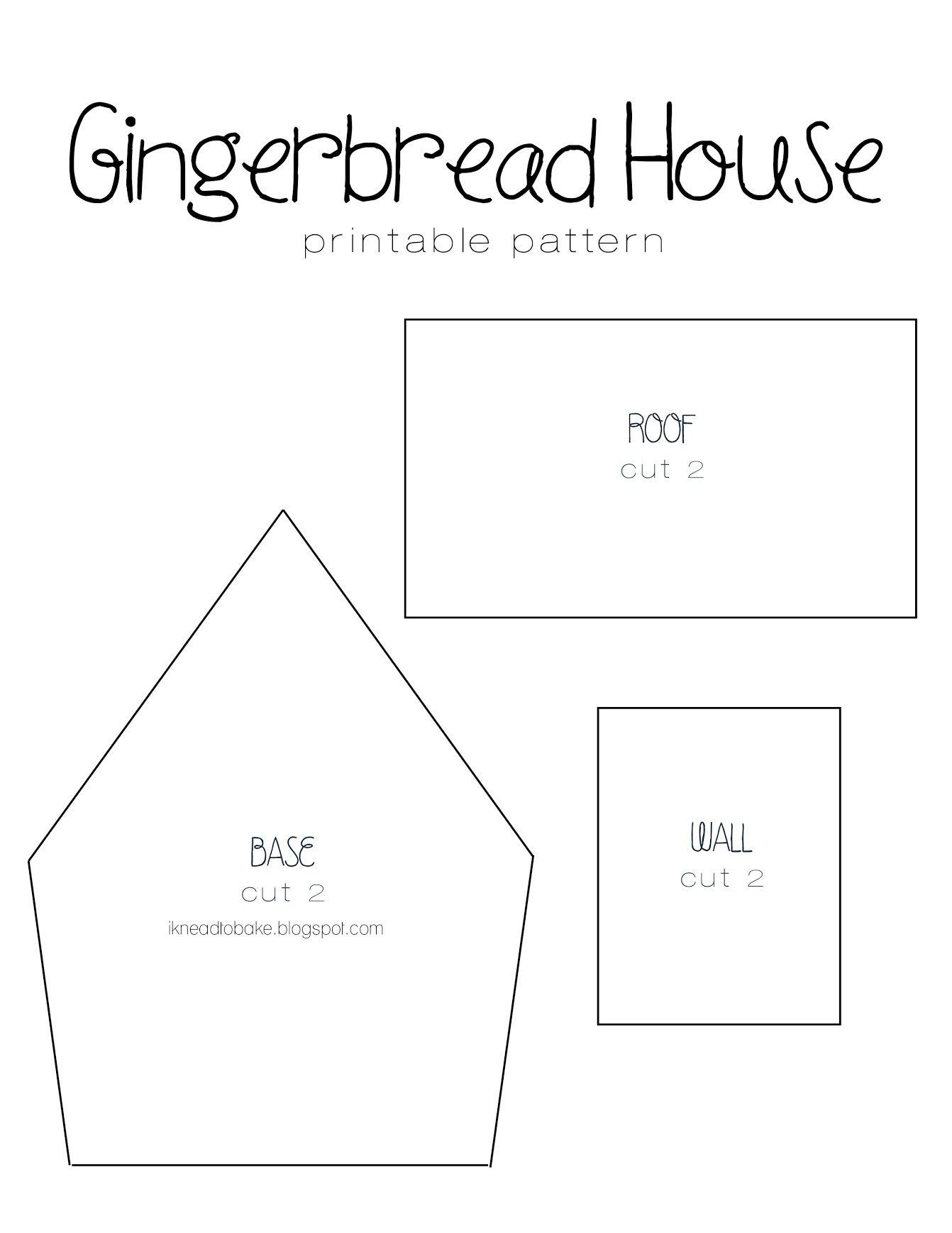 Mostrando ikneadtobake_gingerbread template.jpg   Ginger Bread house ...
