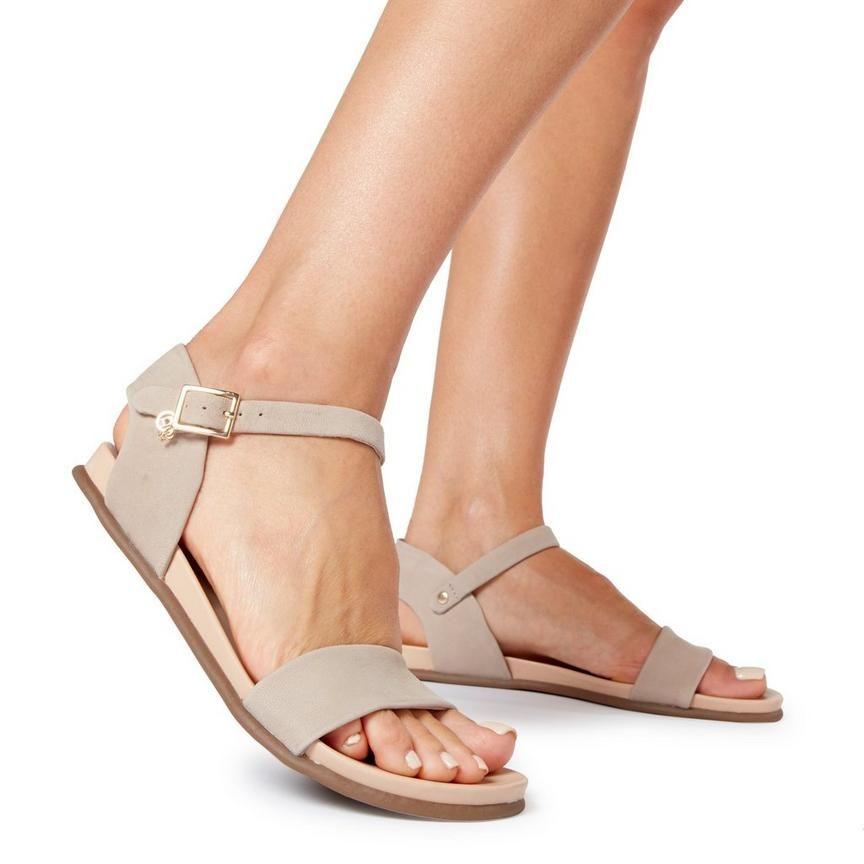 2bccb5ca5b3e1 LONDONER - Charm Ankle Strap Flat Sandal | Clothes | Ankle strap ...