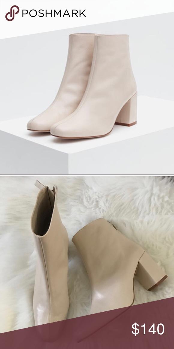 f5a83a00d9d ZARA cream booties • brand   ZARA • condition  like new • women s ...