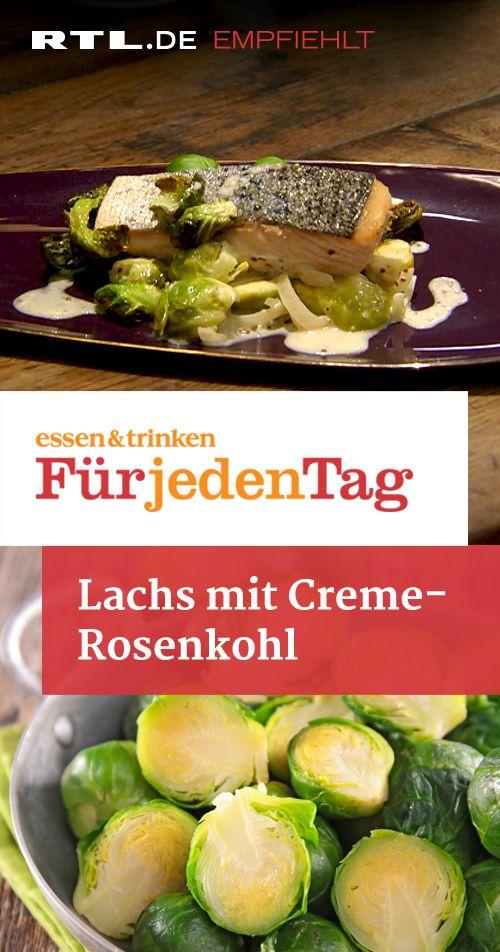 Lachs mit Creme-Rosenkohl