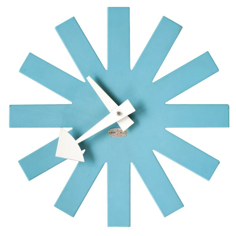 Attractive Blue Asterisk Clock Designed In 1953 By George Nelson For Howard Miller. Nice Ideas