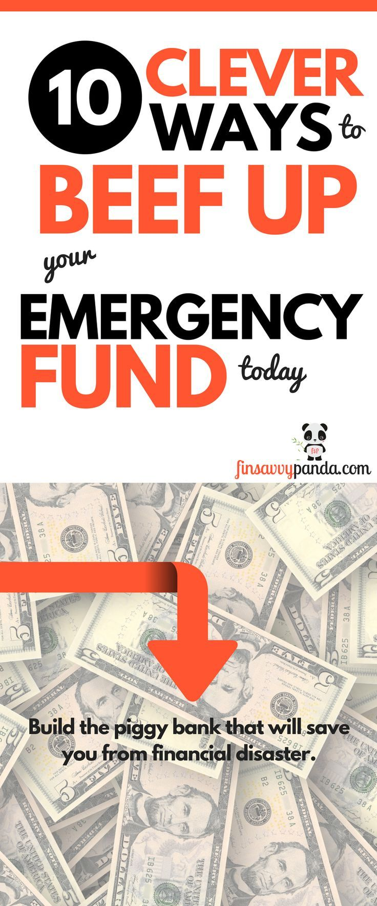 10 clever ways to build your emergency fund, stress-free! | emergency fund | money saving tips | make money ideas | personal finance tips | frugal living ideas | frugal tips | save money ideas | get out of debt