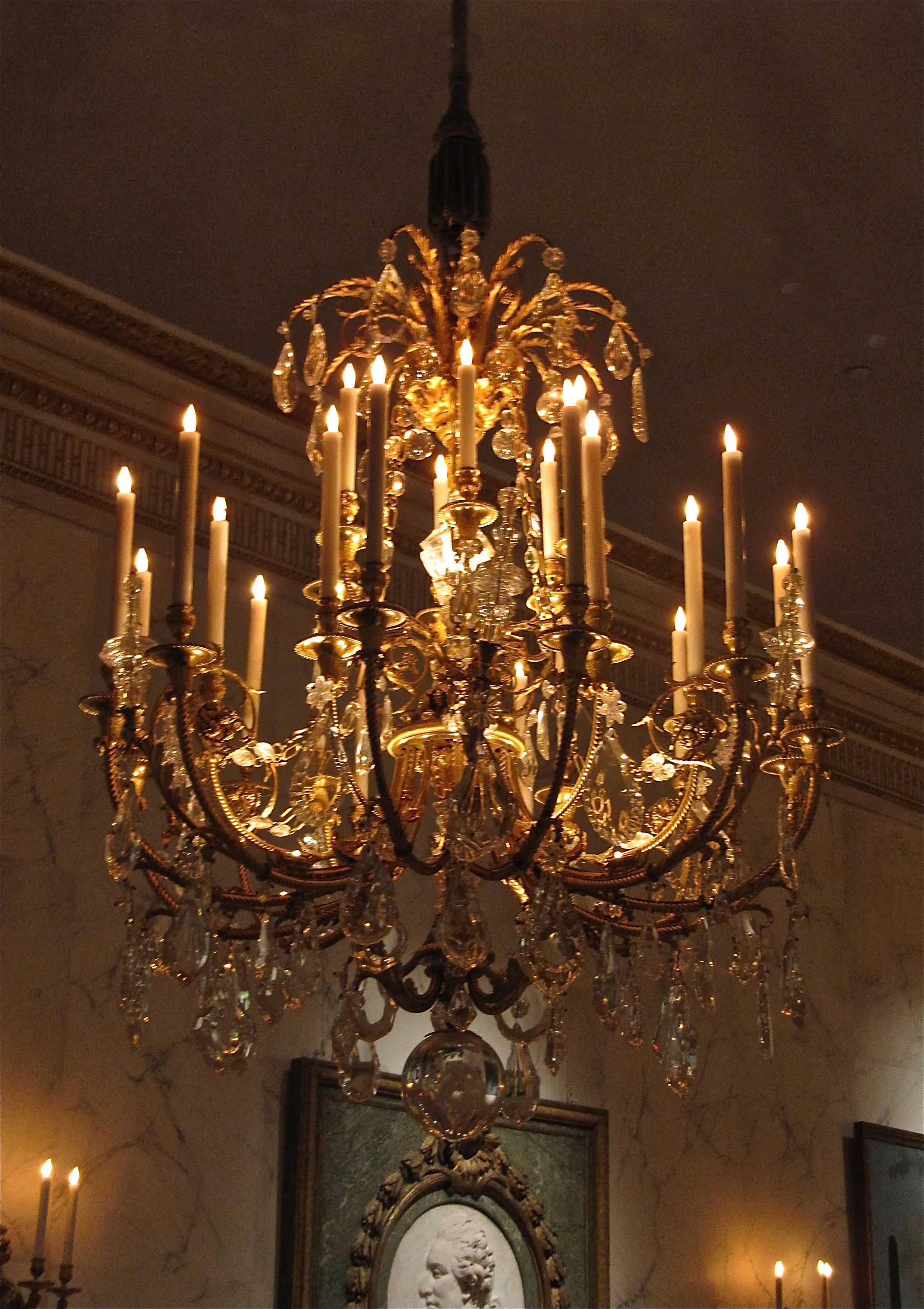 The french hall chandelier at the met museum nyc one of a pair the french hall chandelier at the met museum nyc one of a pair of huge about 5 tall 28 light ormolu chandeliers perfectly embossed and chased aloadofball Images