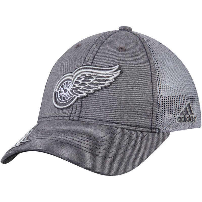 competitive price ebc15 db3e0 Detroit Red Wings adidas Travel   Training Slouch Adjustable Hat - Gray