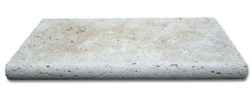 Margelle travertin beige vieilli 61x33x3cm - Margelle ...