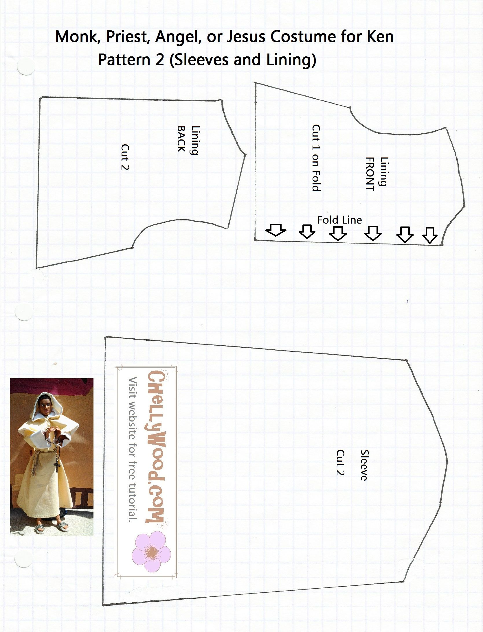 Catholic priest costume pattern for sewing a Friar Laurence outfit ...