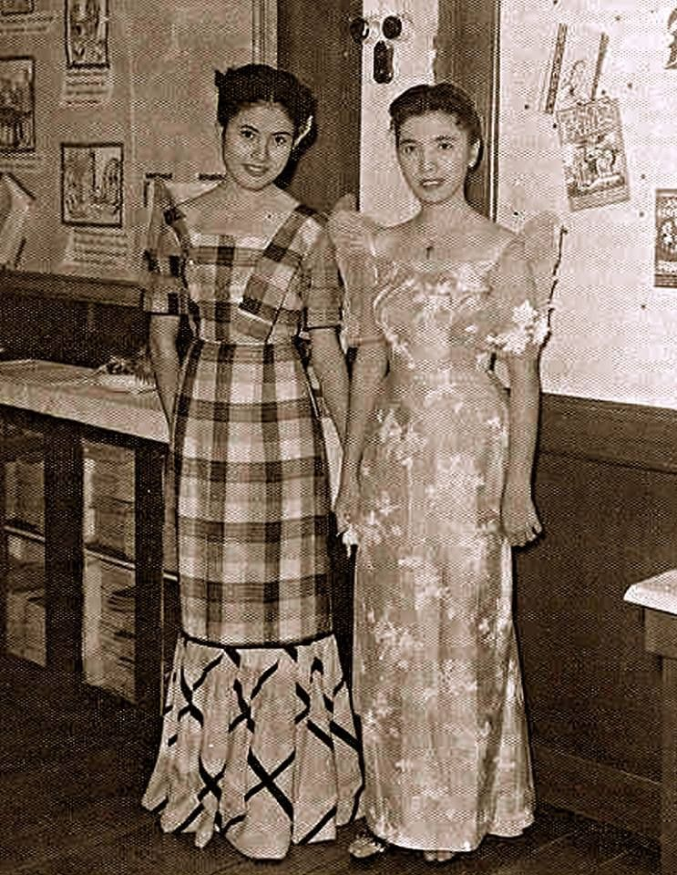 School teachers,Davao....1950 via Ged Dizon vintage plaid ...