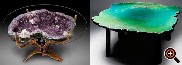 Designer Couchtisch Wohnzimmer Trend Holz Tisch