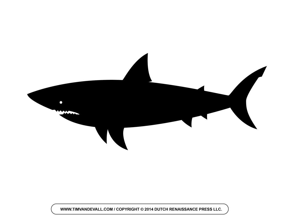 Great White Shark Outline Black Outline Shark Tattoo Design By ...