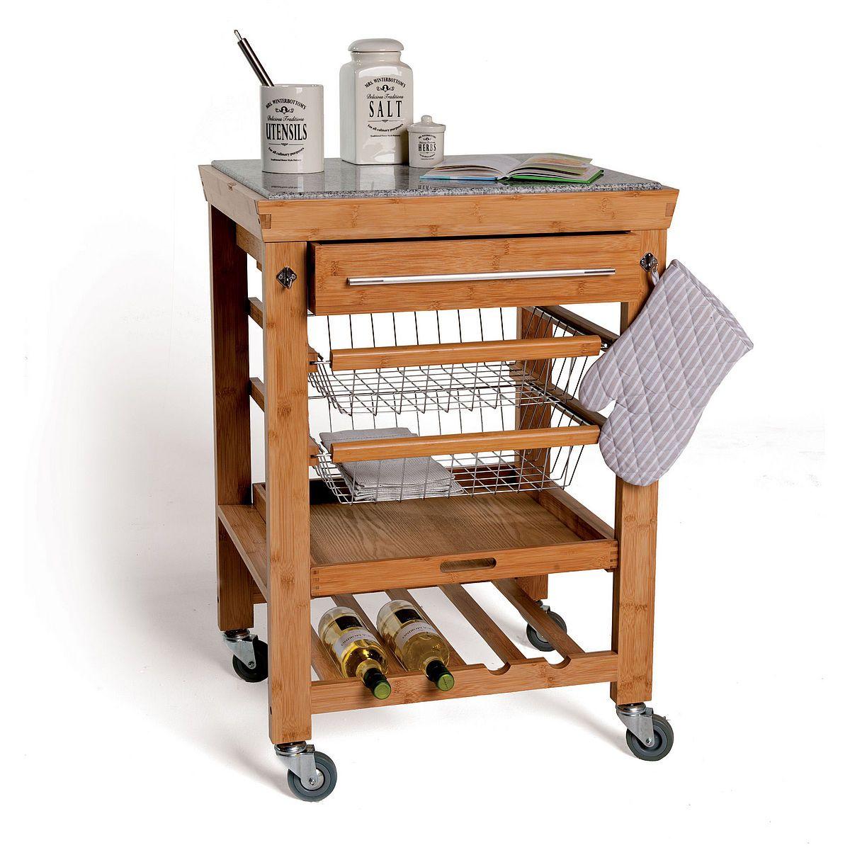 Rolling Stone Servierwagen Mit Granitarbeitsplatte Butlers Servierwagen Grilltisch Gedeckter Tisch