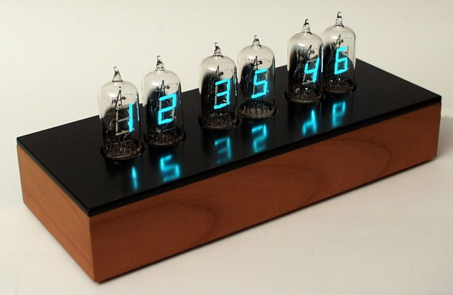This Clock Is Based On Vacuum Fluorescent Display Tubes