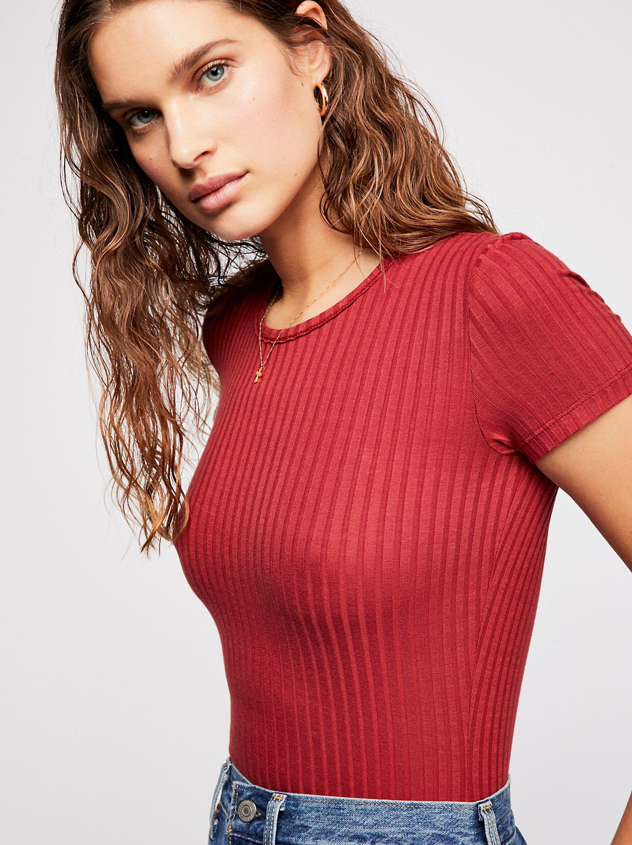 6534de1af790f0 Baby Rib Tee from Free People!