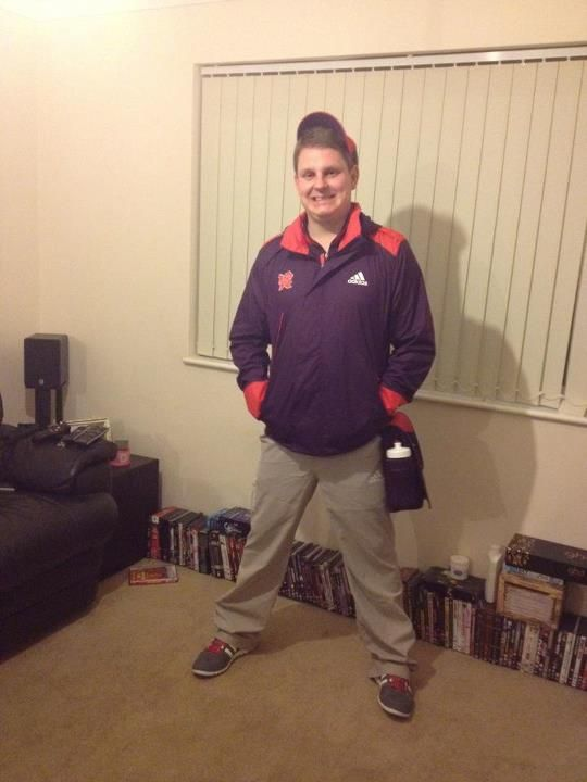 Anglian's Kirk Lanckmans in Olympic uniform ready for his involvement tomorrow.