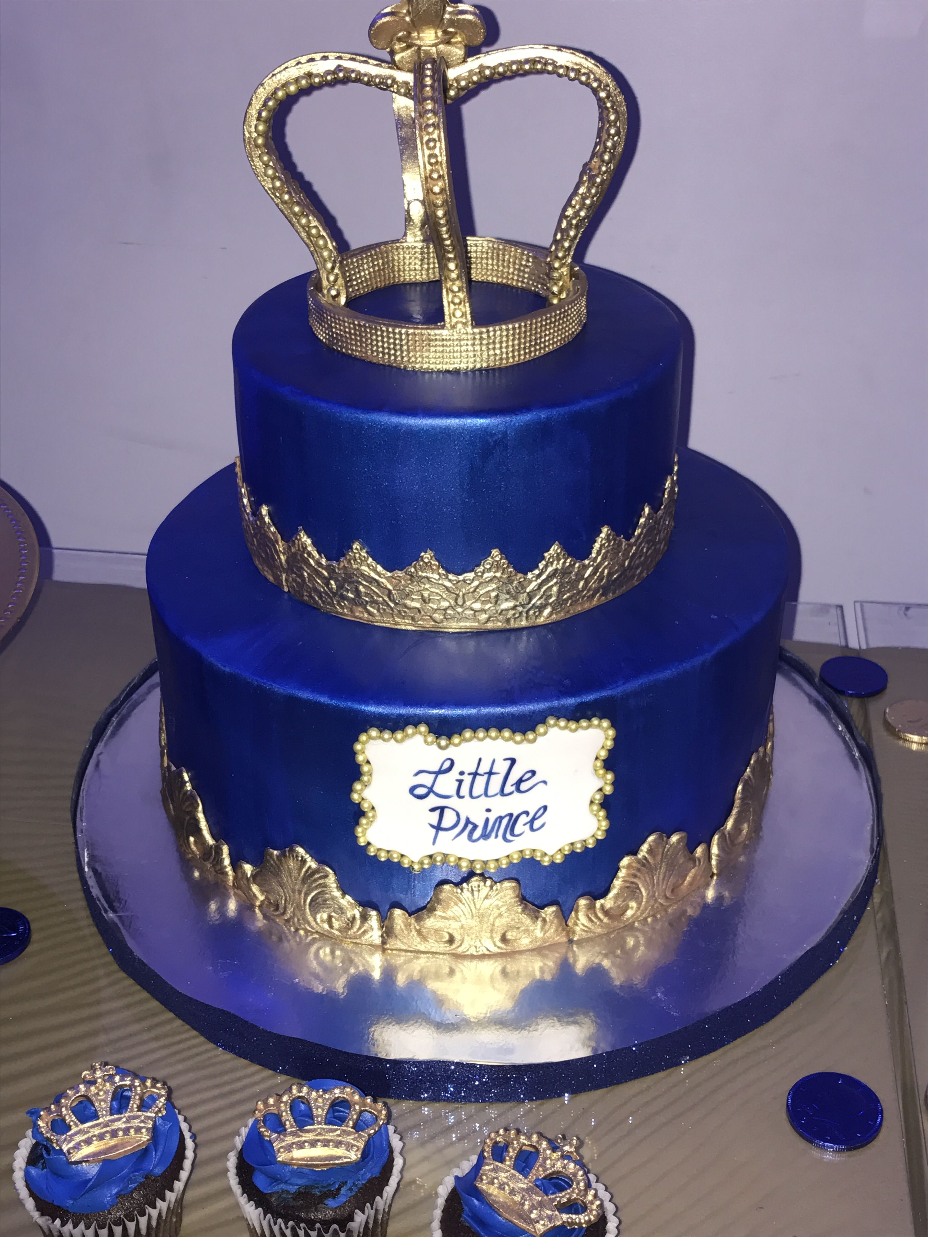 Royal Prince Baby Shower With Images Prince Baby Shower Cake