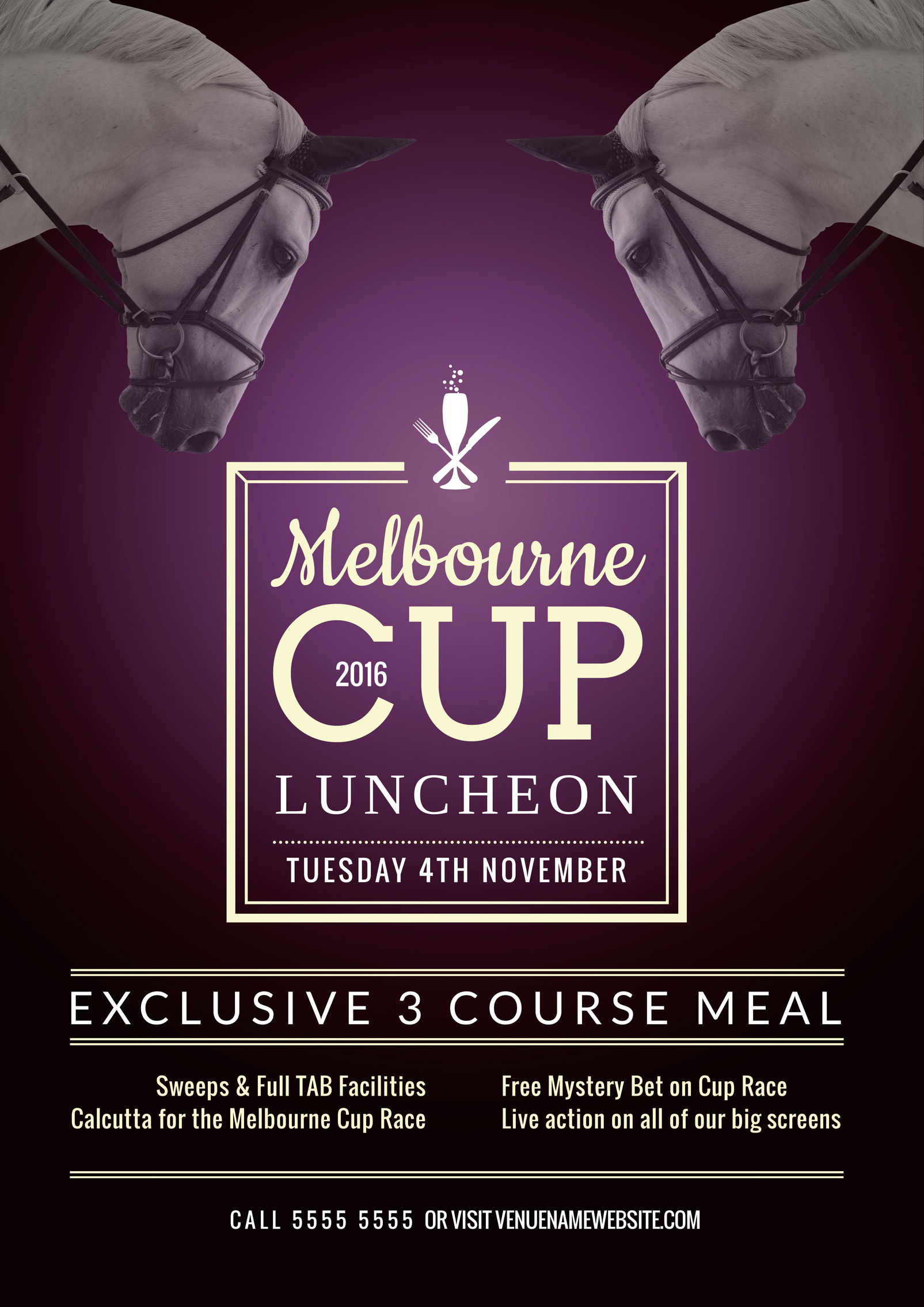 free melbourne cup spring racing promotional template for your
