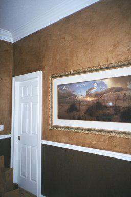 Paper Plique Trompe L Oeil And Murals Painted By Art Effects Faux Leather Walls Faux Walls Paper Bag Walls