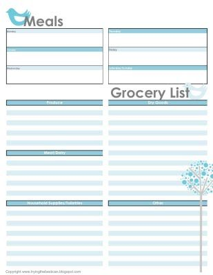 I decided to design my own meal-planning guide \ grocery list - I - grocery list template excel free download