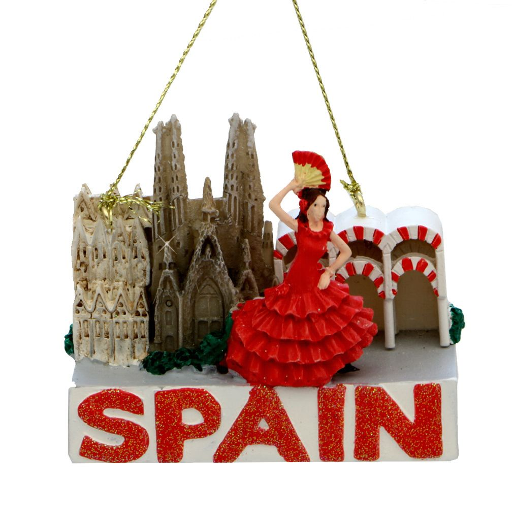 Spain Icons Christmas Ornament Christmas Ornaments Spanish Christmas Christmas Destinations