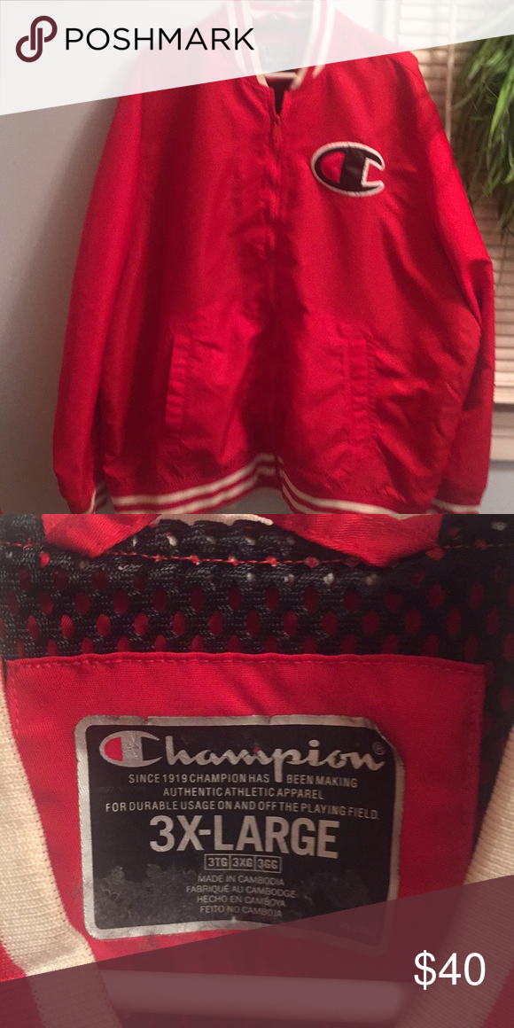e163048d Champion Champion life Men's satin baseball jacket, c patch logo at cuff  ,mesh lining NWOTS Champion Jackets & Coats Bomber & Varsity