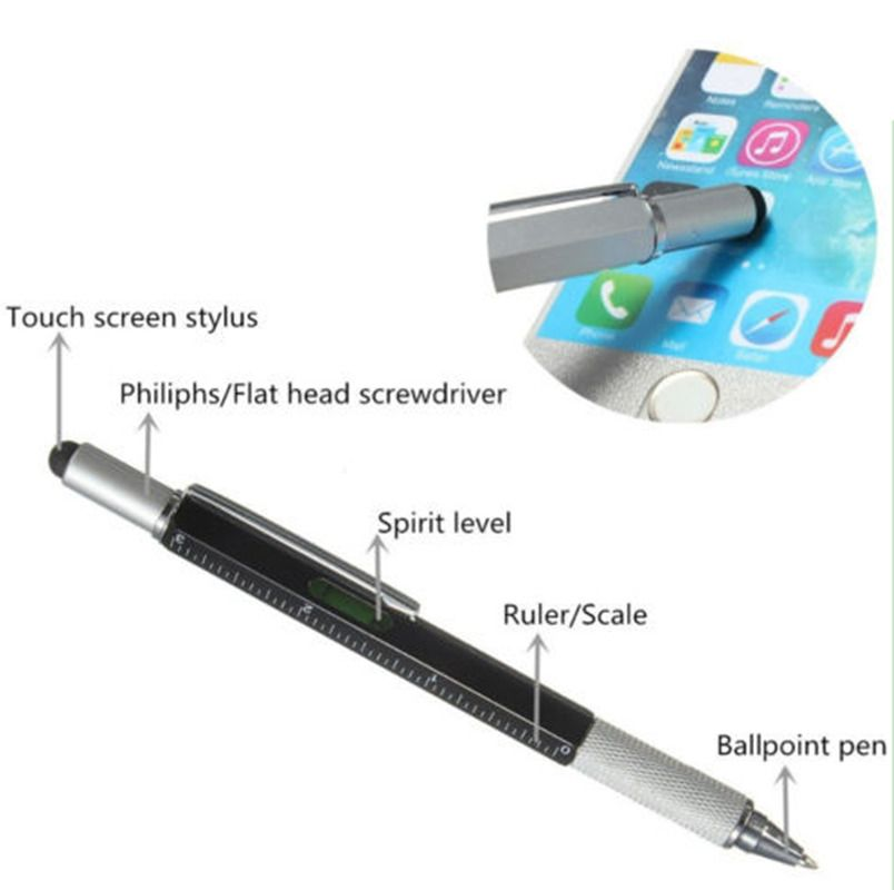 Ruler Screwdriver Pen For iPhone iPad Cell Phone Universal Stylus Touch Screen