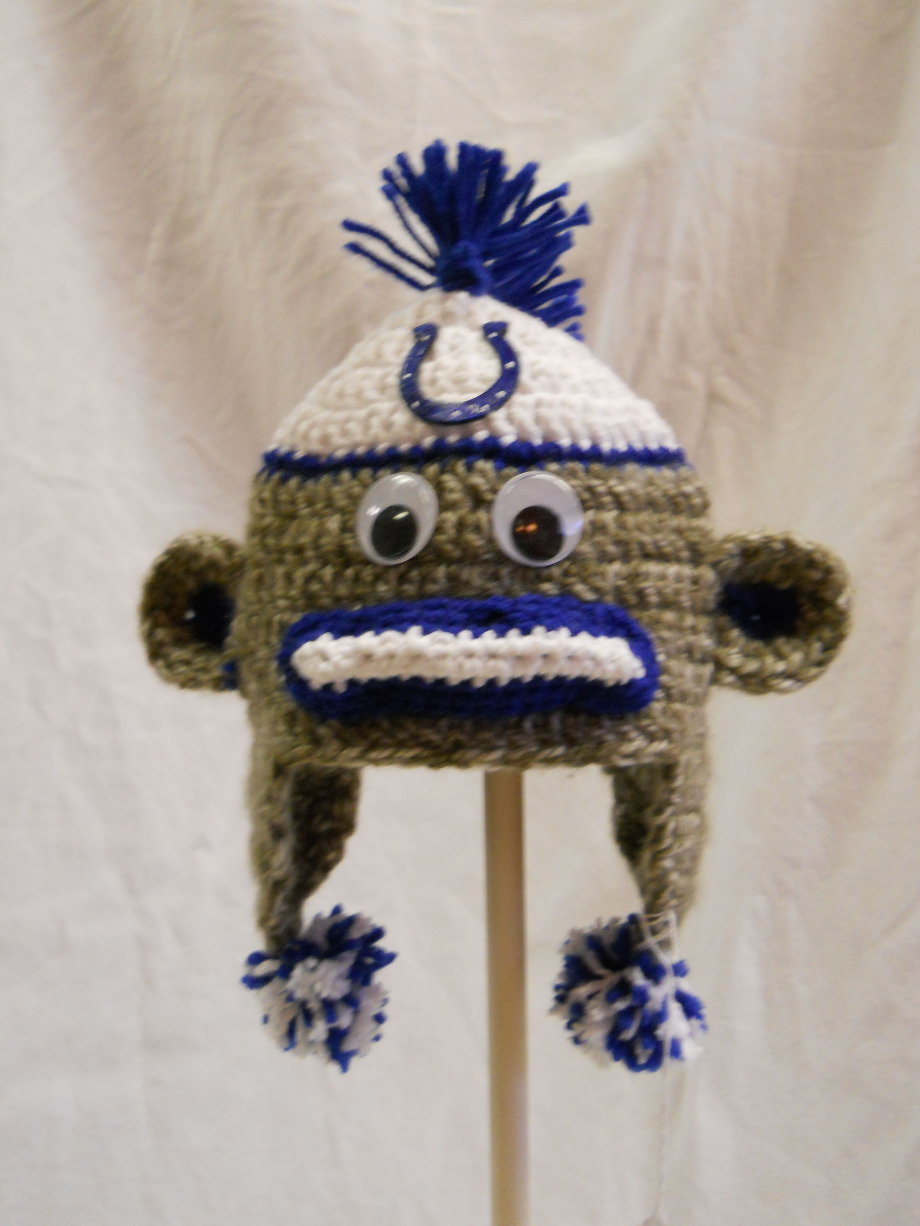 2849a91099d Indianapolis  Colts Sock Monkey Hat Indianapolis Colts