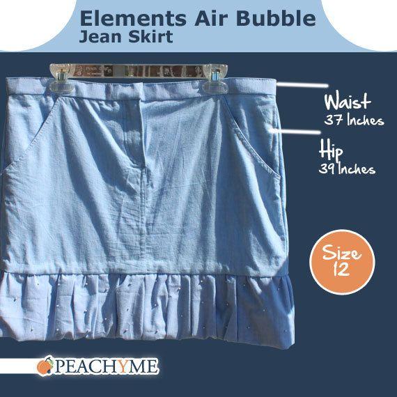 PeachyMe  Elements Air Bubble Jean Skirt by peachymedesigns, $35.00