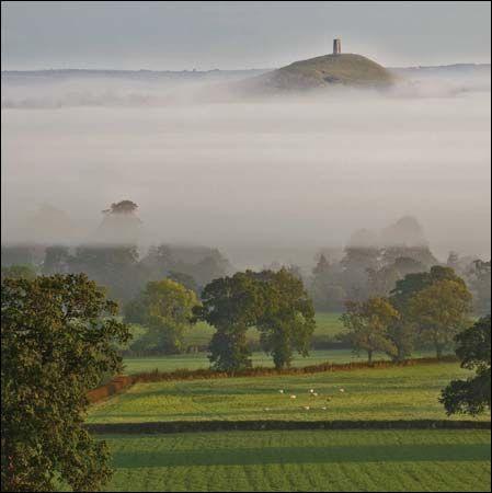 Glastonbury tor seen through mist one of our new national trust one of our new national trust greeting cards m4hsunfo