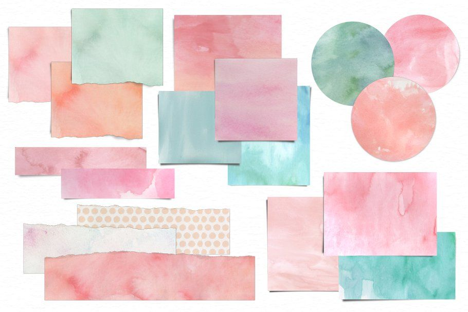 Watercolor Frames Papers Tape Paper Tape Digital Watercolor