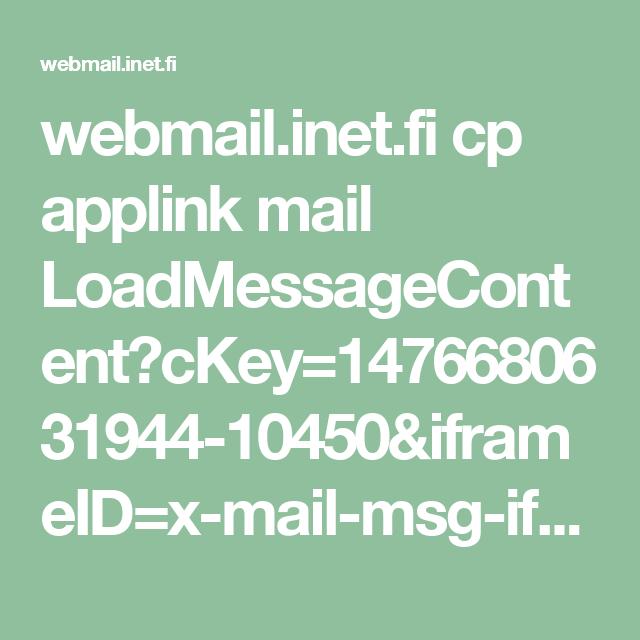 Webmail inet fi