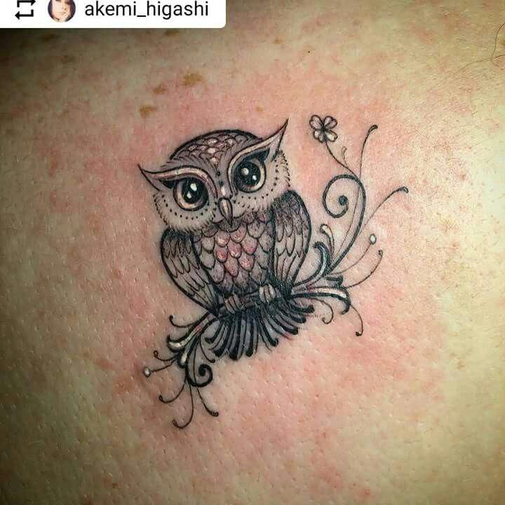 Cover Up Tattoos On Back Of Neck Tattoosonneck Cover Neck Tattoos Tattoosonneck Cute Owl Tattoo Owl Tattoo Small Baby Owl Tattoos