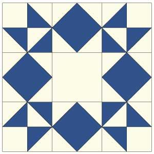 image regarding Printable Company Limited Quilts referred to as Routine: Moonlight Star Routines Star quilt blocks