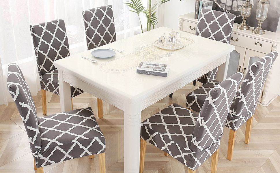 LiveGo Chair Cover, 4 Pack Stretch Dining Chair Covers