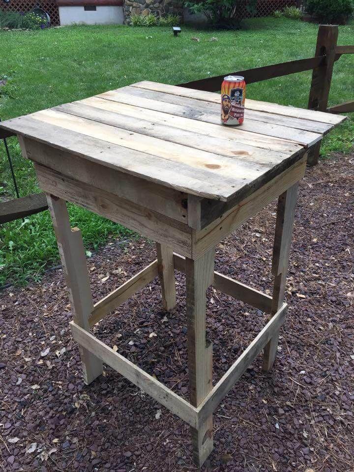Recycelte Paletten Beistelltisch #recyceltepaletten Recycelte Paletten Beistelltisch - Holzpalette Seite Tabelle #recyceltepaletten