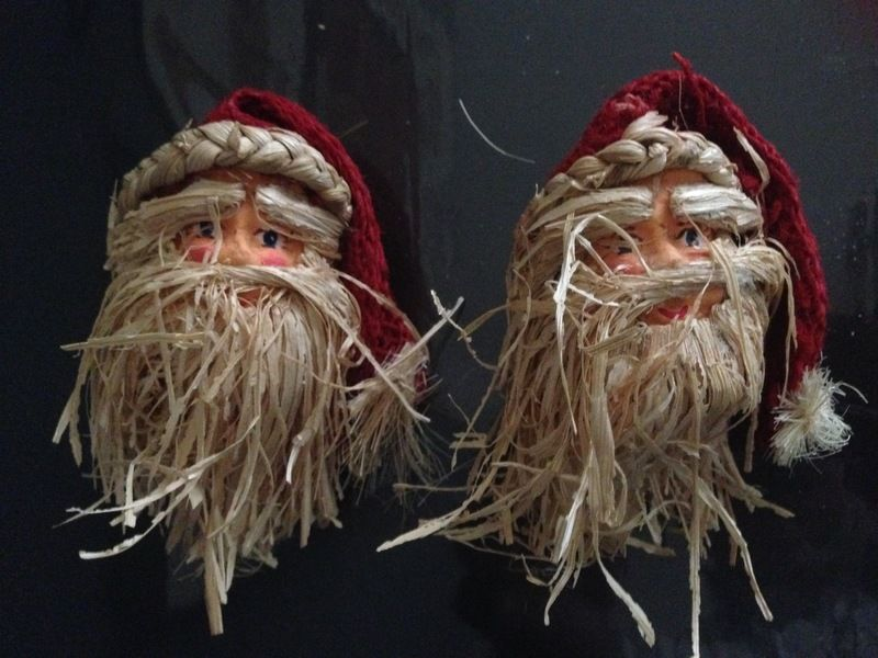 kerstman figuur set van 2 stuks