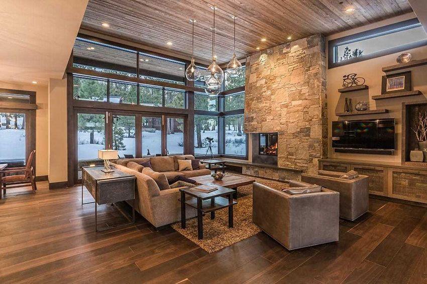 43 Beautiful Large Living Room Ideas Formal Casual Designs Modern Rustic Living Room Rustic Contemporary Contemporary Decor Living room ideas modern rustic