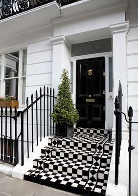 Around The Townhouse Front Door Design Black Front Doors Door Design