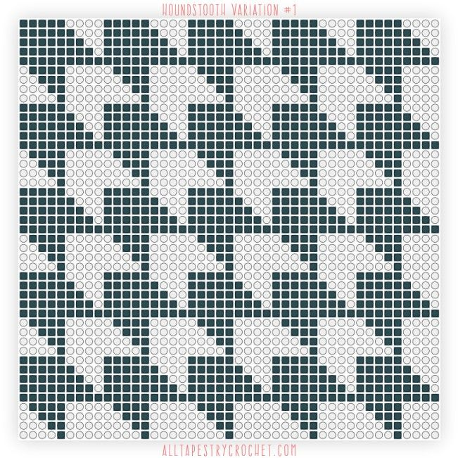 Houndstooth Variation 1 Free Tapestry Crochet Pattern From