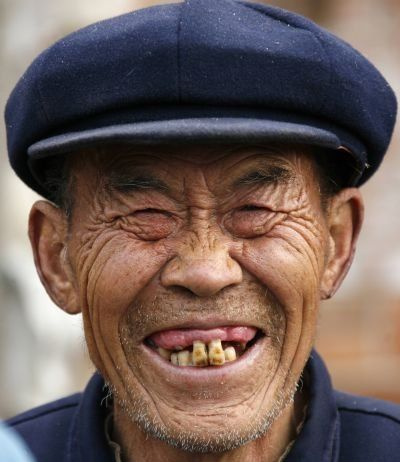 Crazy Old Man Smiling And Making Funny Face | Smiling man ...