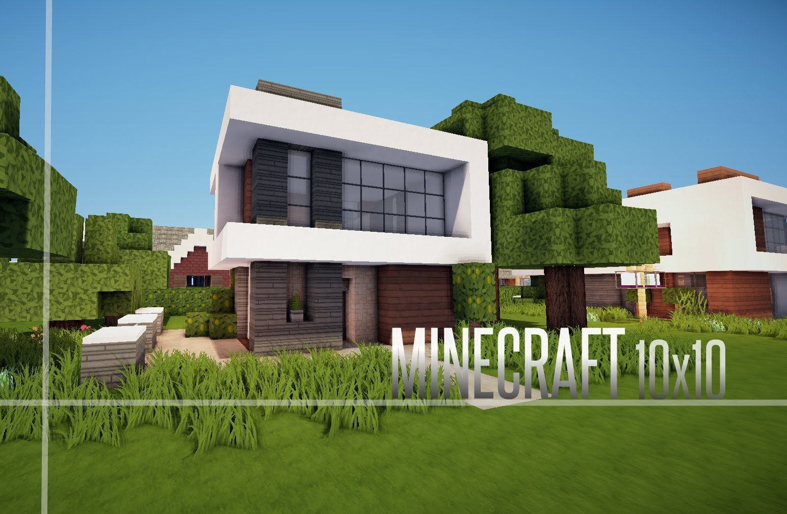 Minecraft house how to build a modern house best for Modele maison minecraft