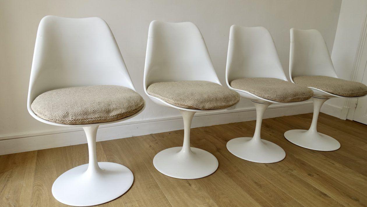 Tulip Stoel Knoll : Eero saarinen  tulip chairs knoll edition suite of