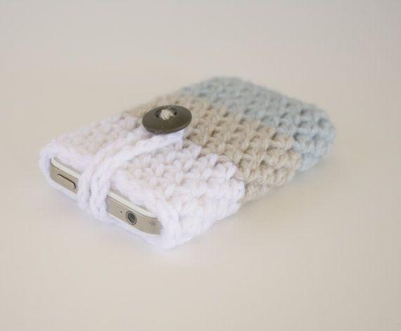 Crochet Ipod Iphone Cozy Slip Cover Case Crochet Case Pinterest