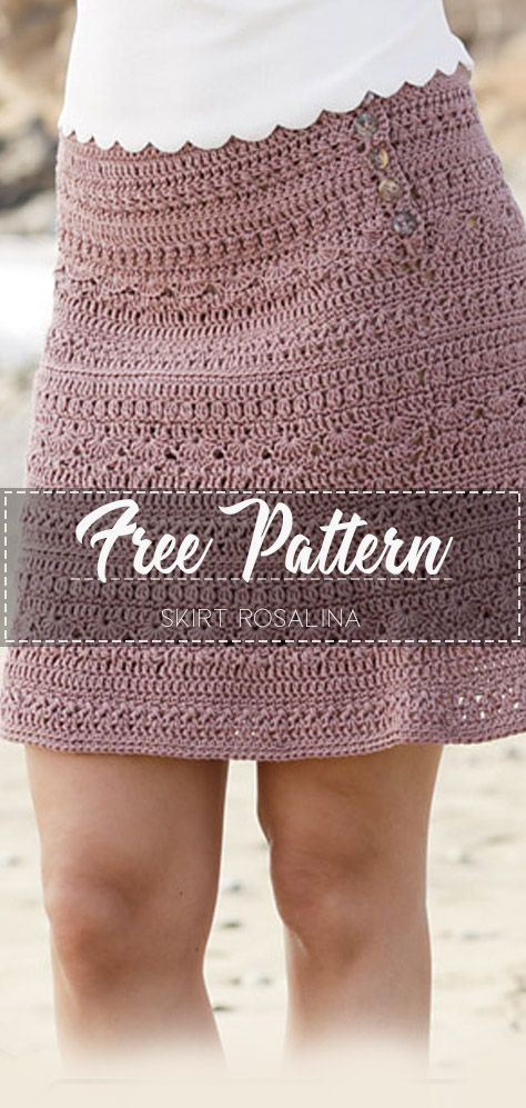 Skirt Rosalina – Free Pattern #crochetclothes