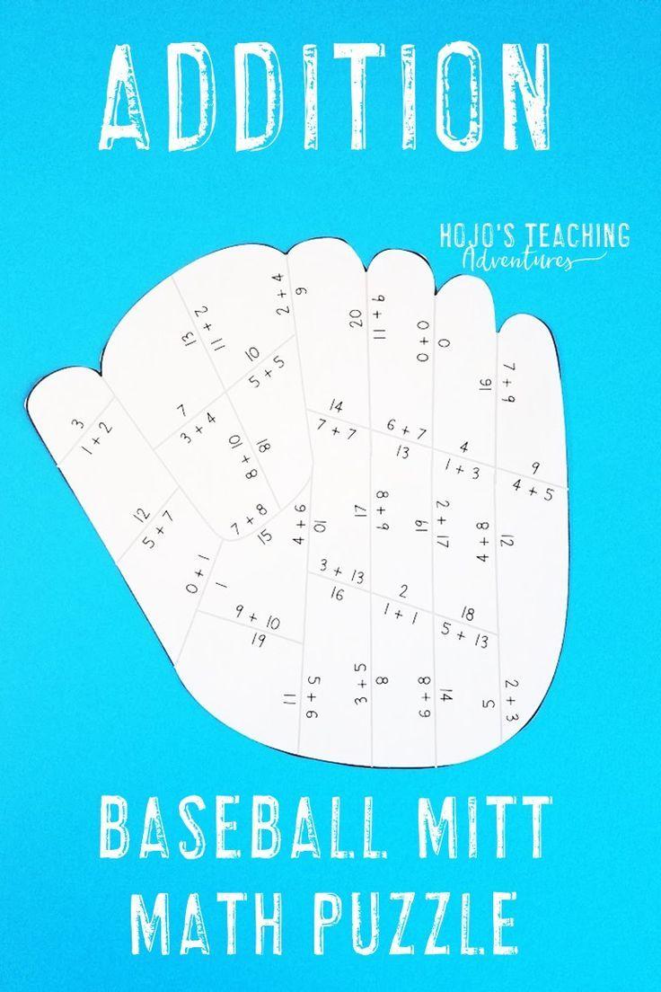 ADDITION Baseball Math Game - Math Supplement for a Sports Classroom ...