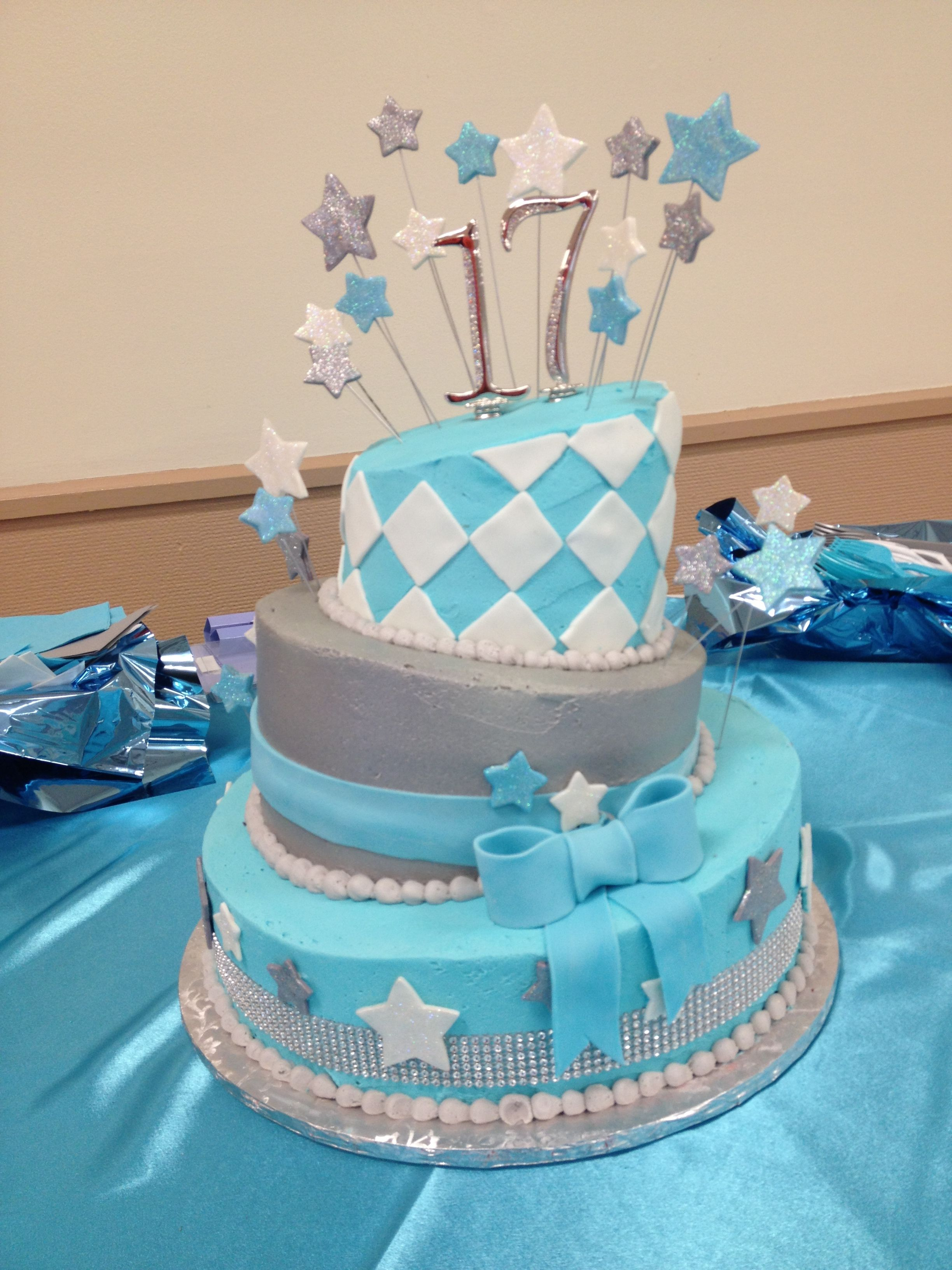 Th Birthday Cake Cakes Pinterest Th Birthday Cakes - Blue cake birthday