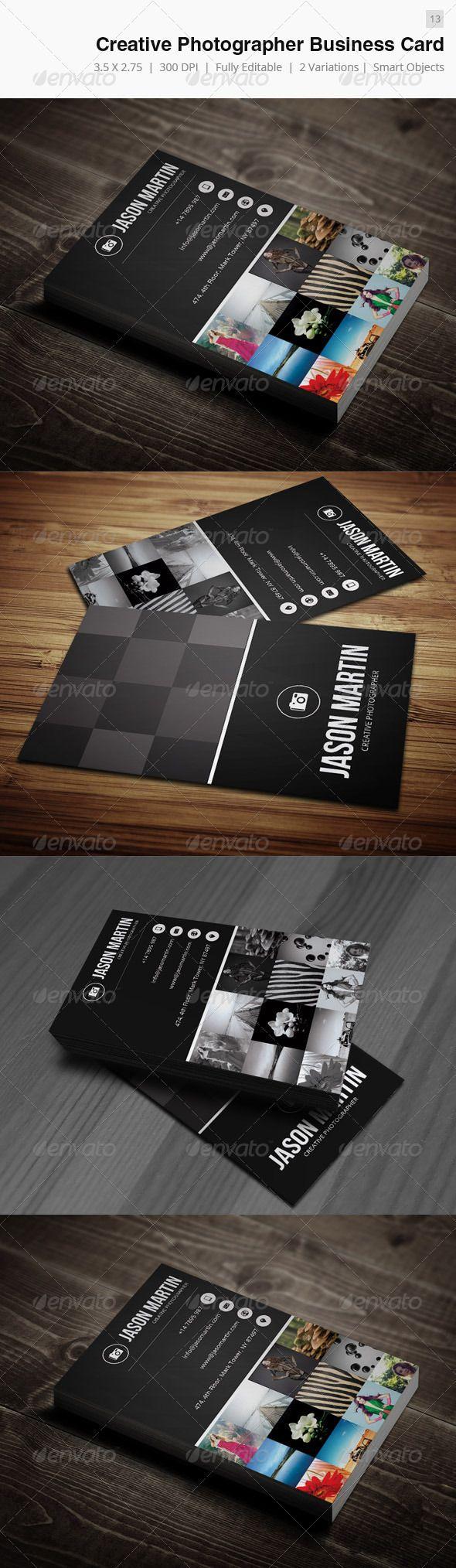 Creative Photographer Business Card - 13 | Photographer business ...