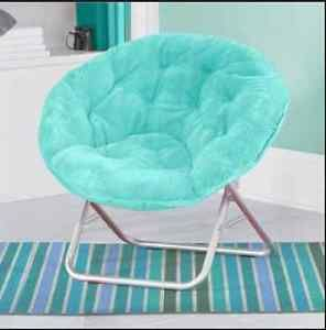 Mainstays Blue Chair Gaming Bedroom Reading Foldable Traditional ...