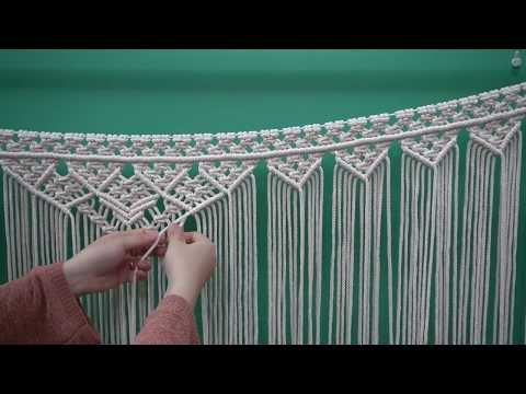 DIY macrame wedding backdrop #2 / the most detailed and specific